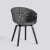Frontpolstret spisestol fra HAY, About a chair AAC22 i sort.