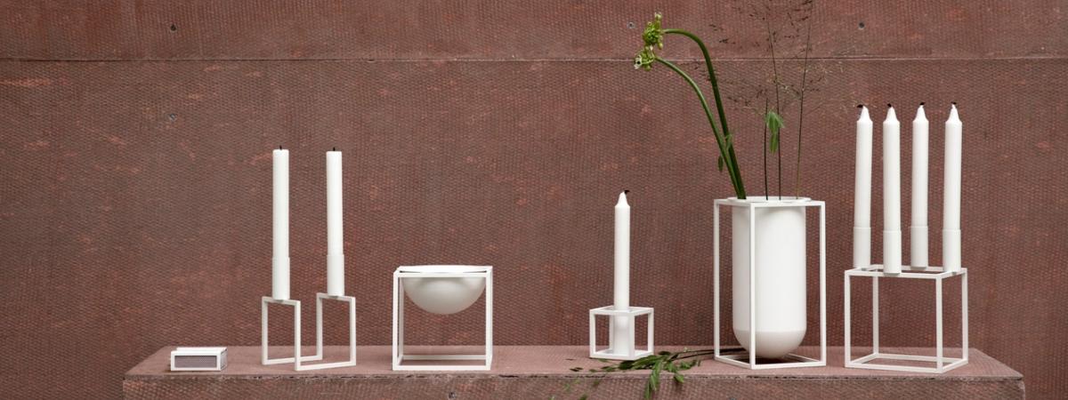 Blogg By Lassen produkter fra kubus serien av skåler, vaser og lysestaker