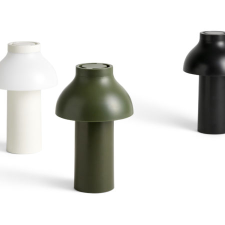 PC-Portable lamp, White, Olive and Soft black