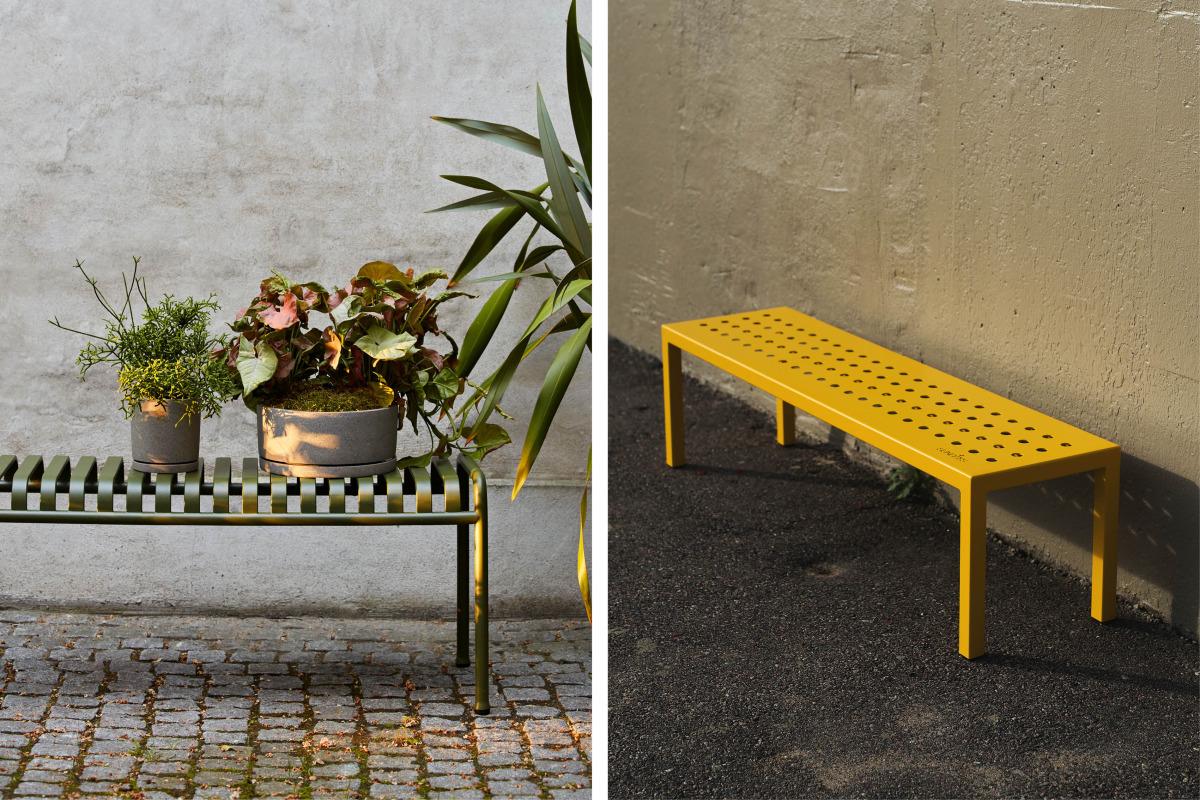 palissade bench og sundays frame benk