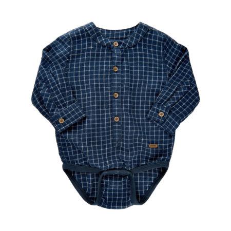 Rutete bodyskjorte i blå fra Minymo