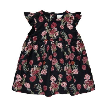 Sort kjole med blomster fra Minymo