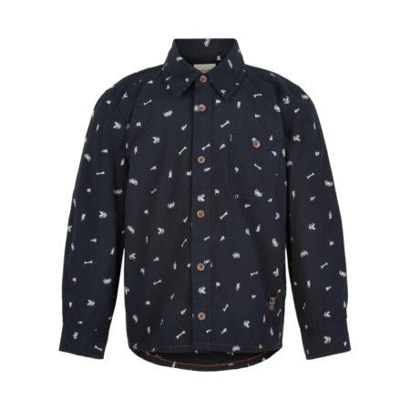 Blå skjorte med hvite detaljer fra Minymo