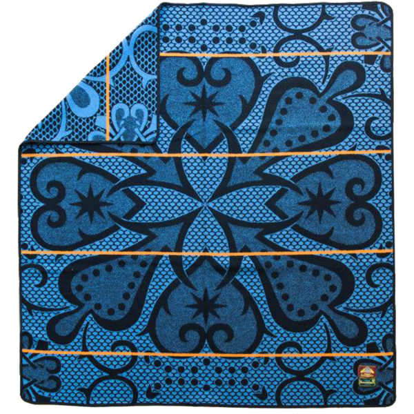 Basotho Chromatic blå med oransje stripe