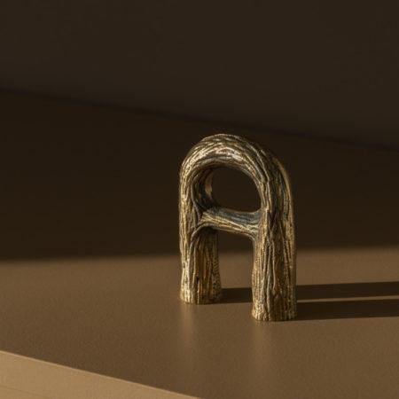 Bokk fra Nedre Foss i bronse