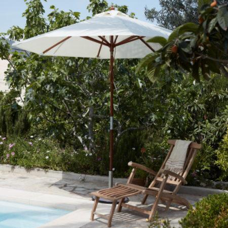Catania parasoll i hvitt fra Skagerak Denmark i miljø