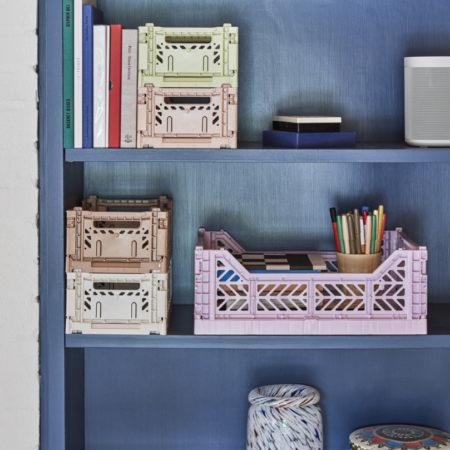Colour Crate S_Splash Vase Roll Neck M white dot oppbevaringsboks fra HAY