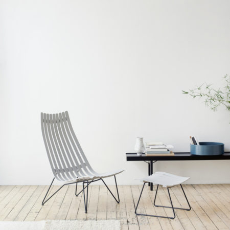 Fjordfiesta scandia senior lenestol miljøbilde, stol i lys grå utførelse