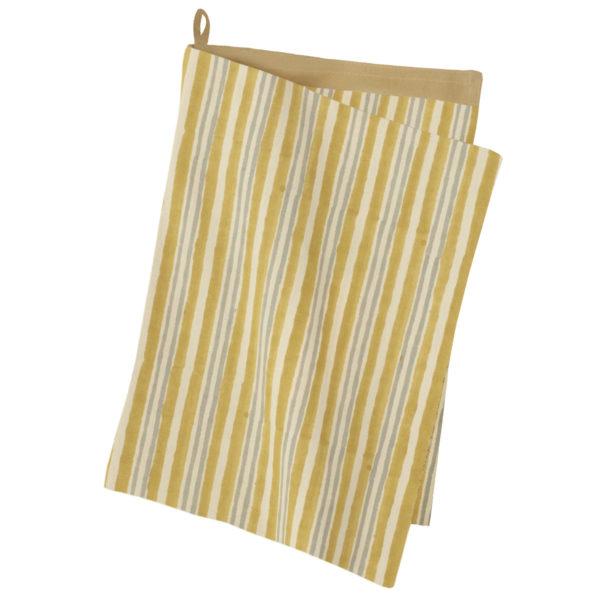 Kjøkkenhåndkle Avadi Masala fra Bungalow. Gul stripete