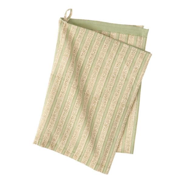 Kjøkkenhåndkle Trellis Ivy fra Bungalow. Grønn stripete