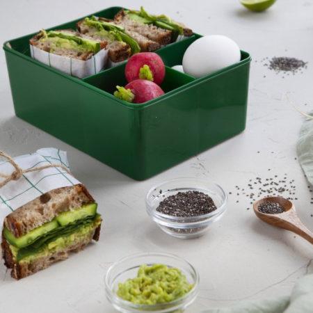 Matboks i plast tre rom fra Blafre. Motiv Bjørn miljøbilde