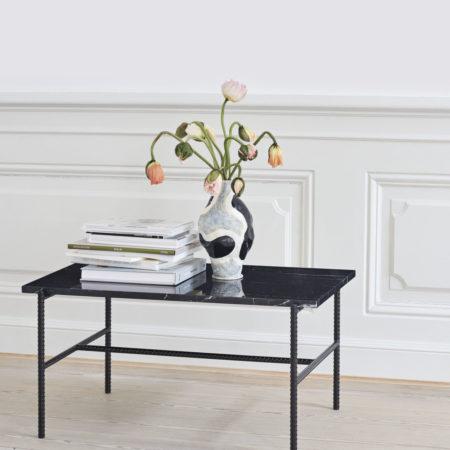 Rebar Side Table marble
