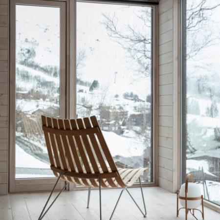 Fjordfiesta-Scandia nett bolt lenestol i utførelse eik og krom