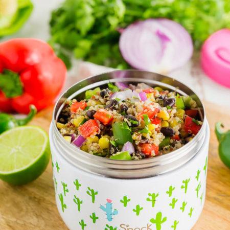 Snack Termo matboks med kaktus og rosa lokk lokk fra Swell