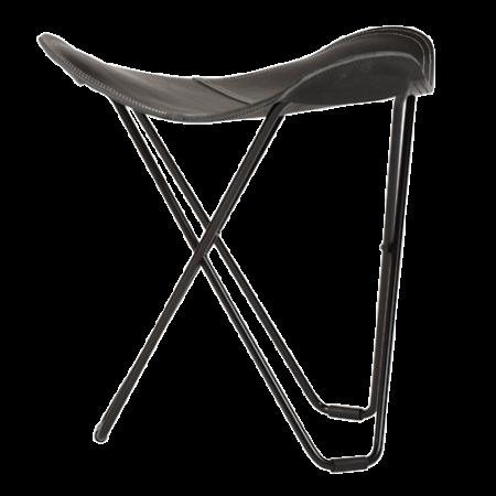 Miljøbilde av krakken Pampa i sort skinn fra Cuero Design.